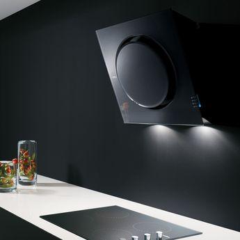 Hotte cuisine Elica murale noire MINI OM 55 cm