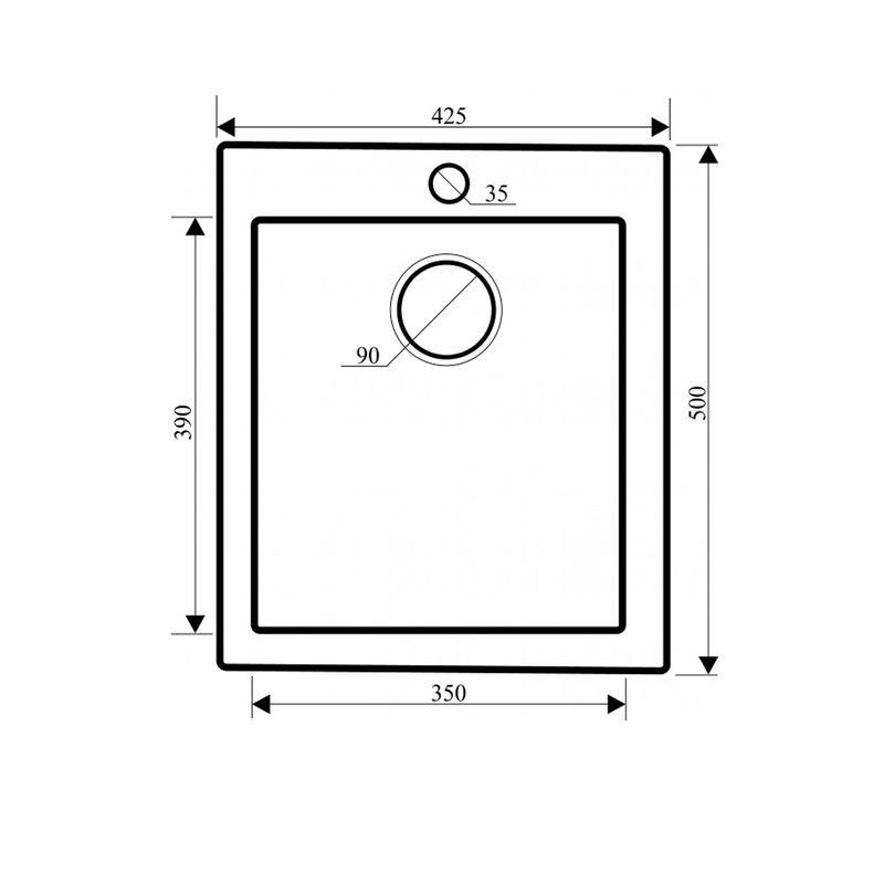 evier granit beige 1 bac sans gouttoir 425x500 simplis des viers gain de place. Black Bedroom Furniture Sets. Home Design Ideas