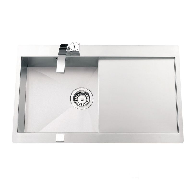 Evier inox lisse rikas 1 bac r sistant et facile d for Evier 1 bac dimension
