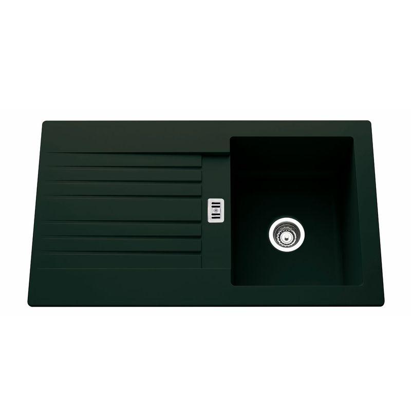 evier en r sine noir pluton 1 bac avec gouttoir pour votre cuisine. Black Bedroom Furniture Sets. Home Design Ideas