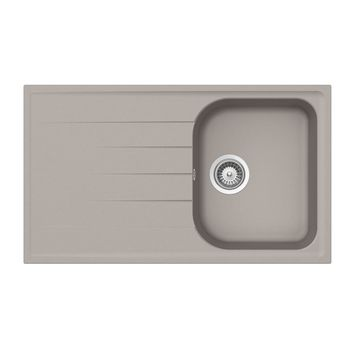 Vier granit taupe schock viola 1 bac 1 gouttoir for Evier 116x50 1 bac