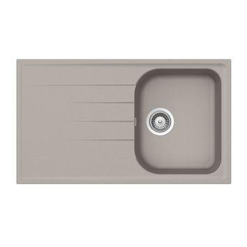 Évier granit gris béton Schock VIOLA 1 bac 1 égouttoir