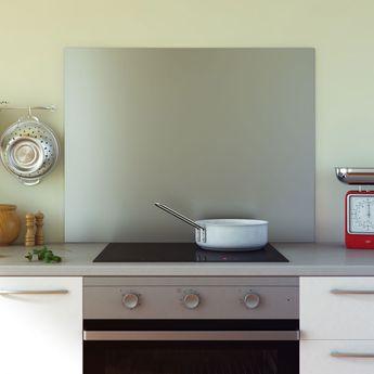 Crédence cuisine fond de hotte inox - Hauteur 70 cm