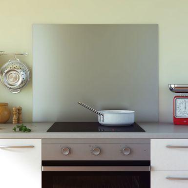 cr dence de cuisine en inox fond de hotte hauteur 75. Black Bedroom Furniture Sets. Home Design Ideas