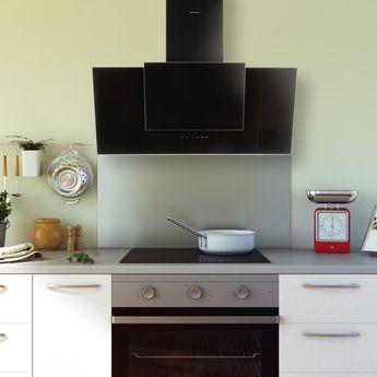 Crédence cuisine fond de hotte inox - Hauteur 45 cm