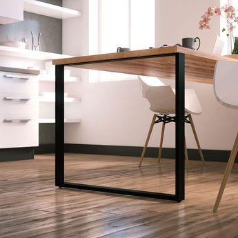 Pied de table rectangulaire TELESCOP Noir H 720 réglable