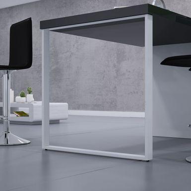 Pied De Table Forme Rectangle En Metal Blanc Hauteur
