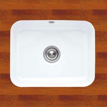 Evier sous plan céramique blanc Villeroy & Boch CISTERNA 1 bac 550x440