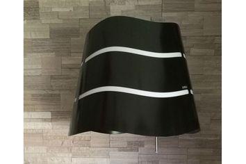 hotte pour cuisine moderne suspendue noire wave livraison domicile prf0090419a. Black Bedroom Furniture Sets. Home Design Ideas