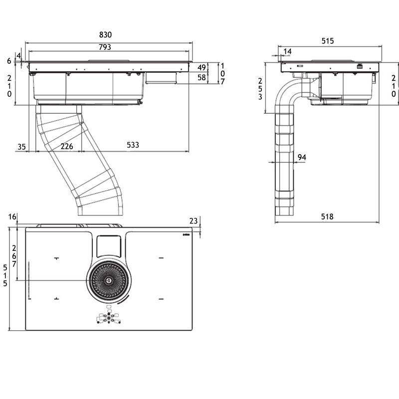plaque de cuisson avec hotte int gr e elica nikolatesla bl a 83 prf0120977. Black Bedroom Furniture Sets. Home Design Ideas