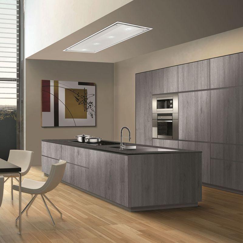 hotte plafonnier airone jupiter en verre blanc cuisine. Black Bedroom Furniture Sets. Home Design Ideas