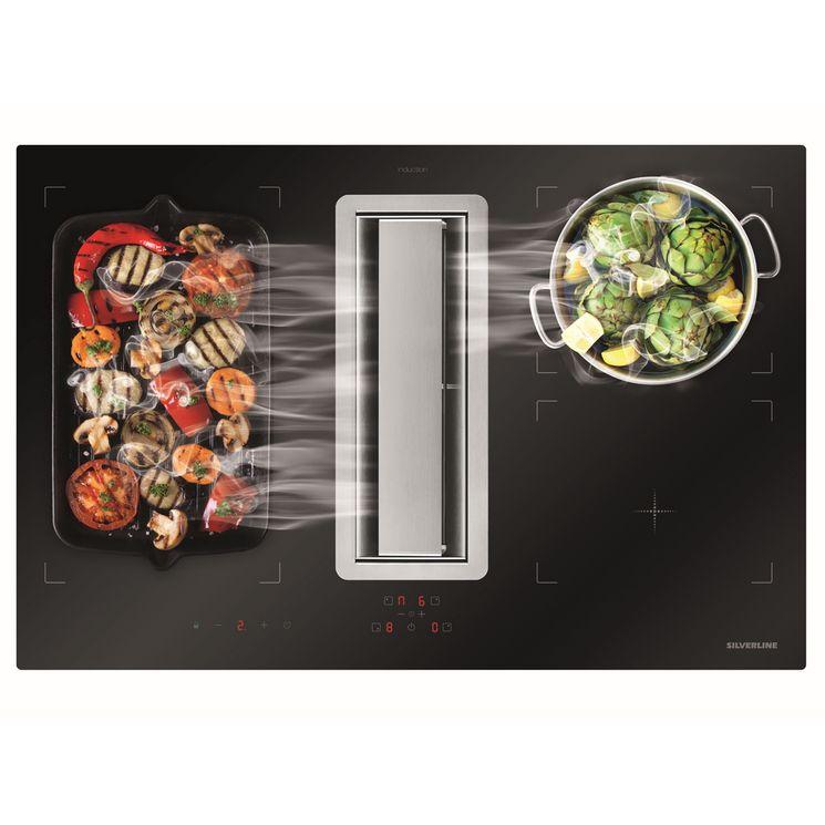 Plaque de cuisson avec hotte intégrée Silverline FLOW MAX - Évacuation