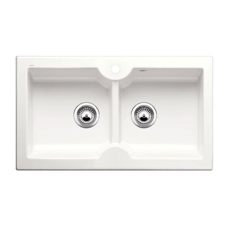 Evier céramique blanc BLANCO IDESSA 9 2 bacs