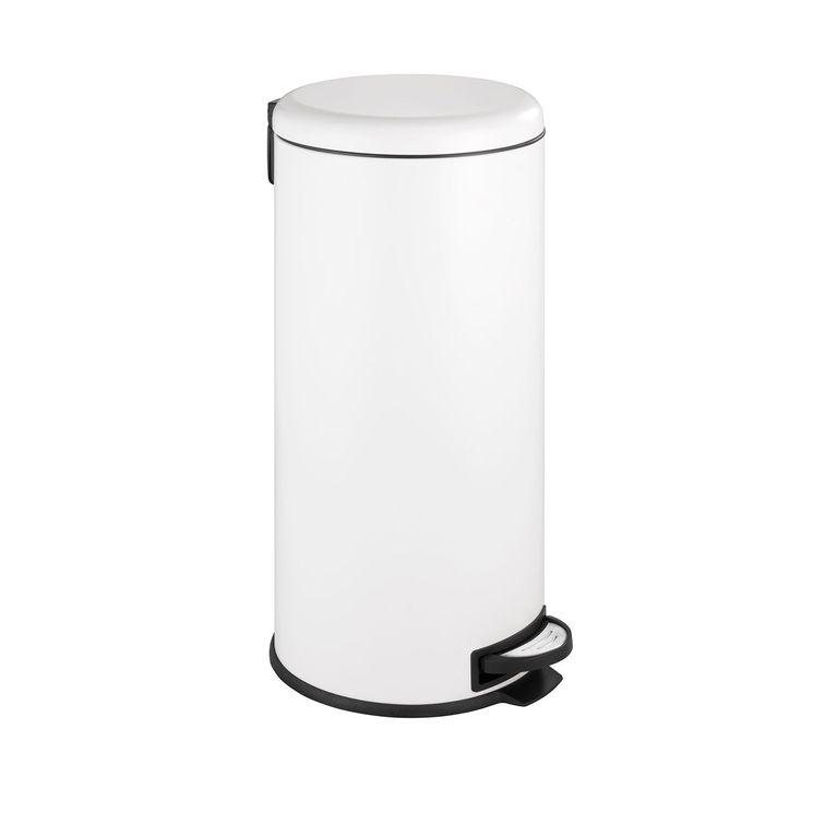 Poubelle de cuisine à pédale WENKO LEMAN blanc - 30 litres