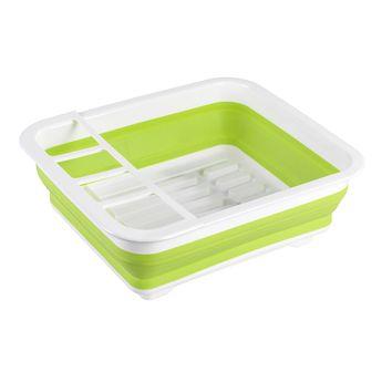 Égouttoir à vaisselle pliable WENKO BILO en plastique blanc et vert