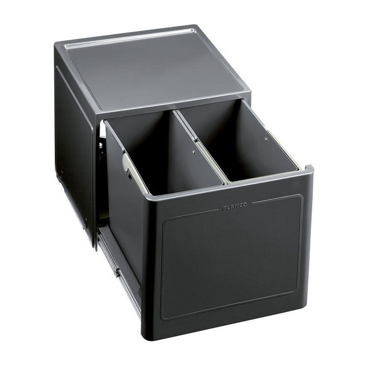 Poubelle de cuisine encastrable BLANCO BOTTON PRO 45/2 Automatique - 2x13 litres