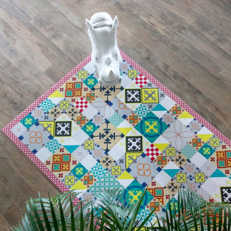 Tapis en vinyle - Carreaux de Ciment PATTY Colors