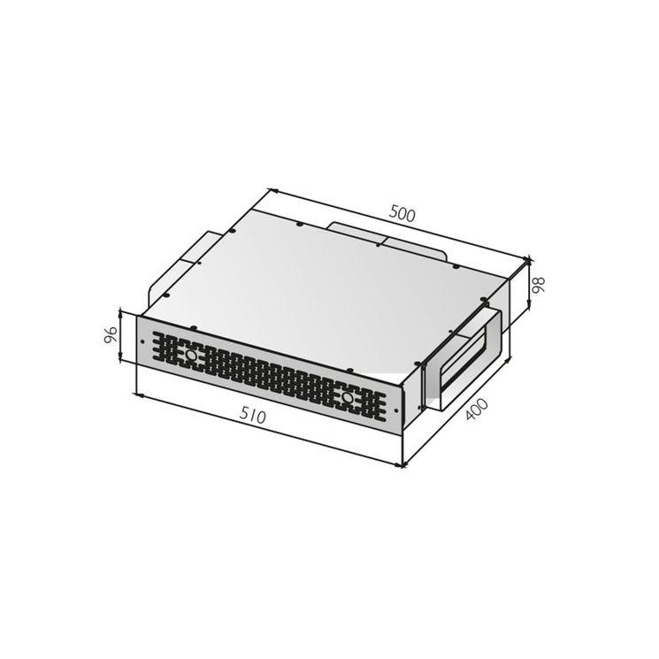 Box pour filtre à charbon pour Hotte Silverline CHACC092