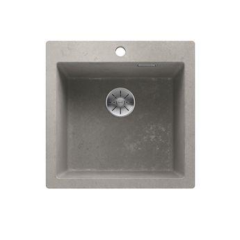 Evier en granit effet béton BLANCO PLEON 5 - 1 bac 51.5x51