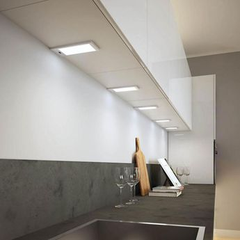 Éclairage de cuisine KIT 3 SPOTS LED SMART inox - Lumière froide
