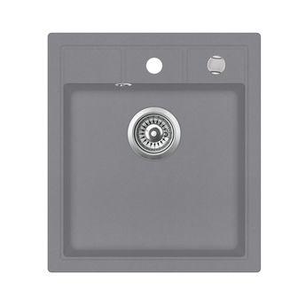 Evier granit gris Aquasanita NOVAQ 1 bac