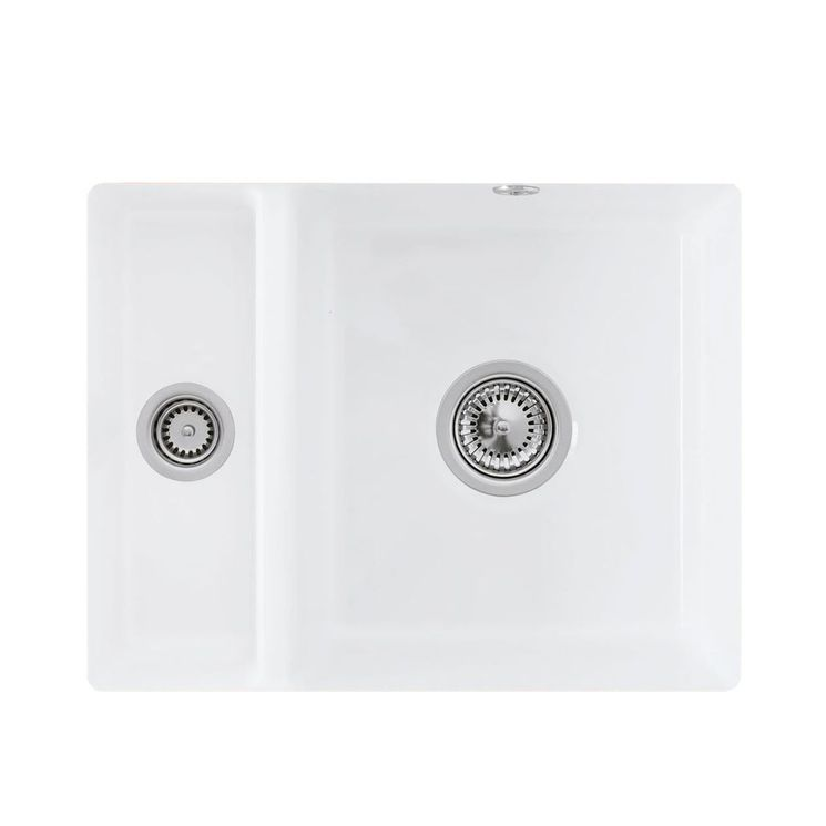 Evier sous plan céramique blanc Villeroy & Boch SUBWAY 1 bac 1/2 545x440