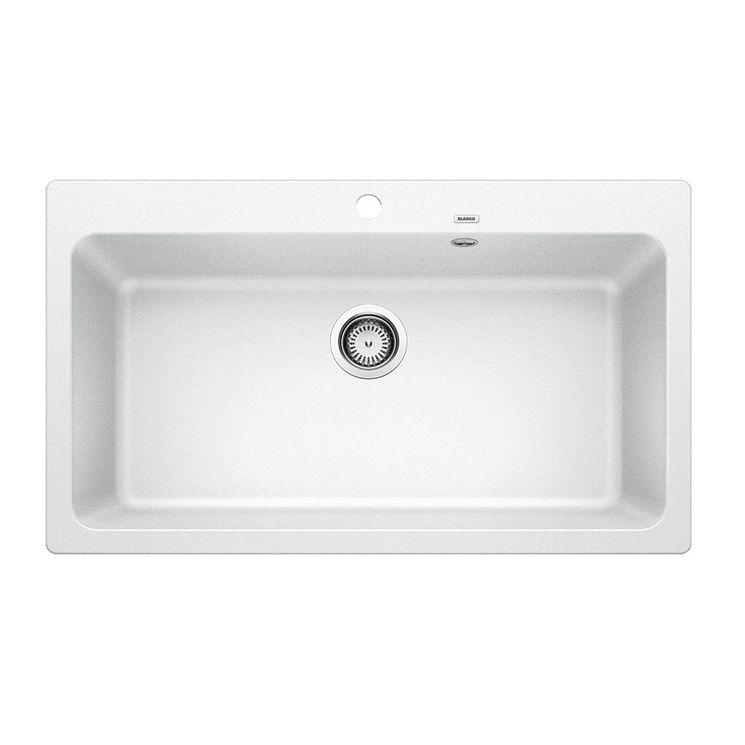 Evier granit BLANCO NAYA XL 9 blanc 1 grand bac