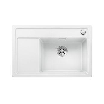 Evier granit BLANCO ZENAR XL 6S Compact blanc 1 bac - égouttoir gauche