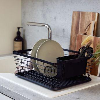 Égouttoir à vaisselle WENKO DRIP noir
