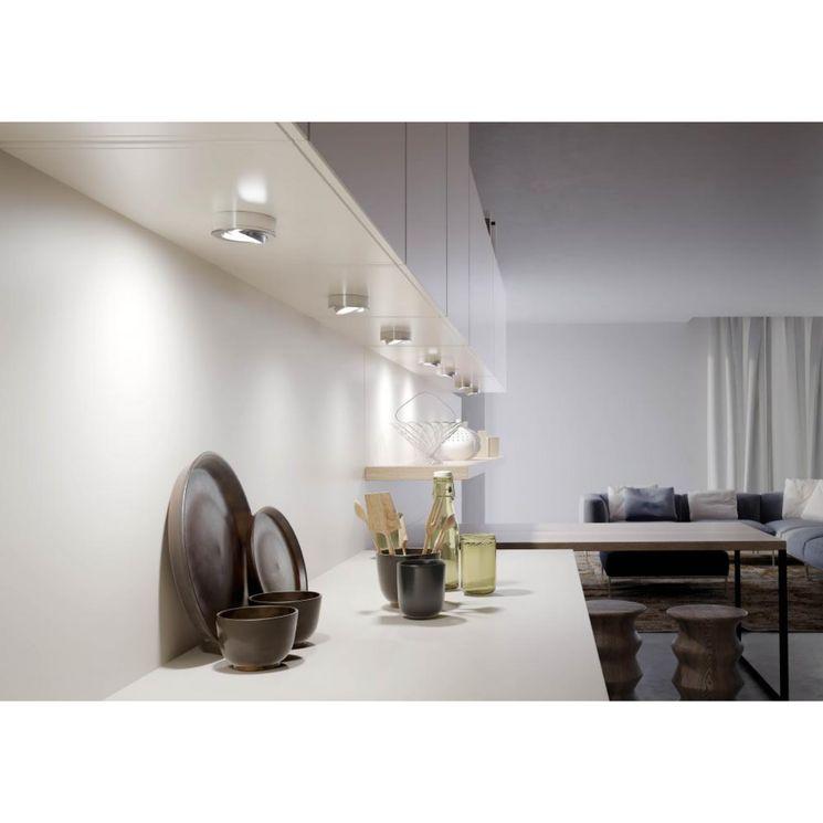 Éclairage de cuisine KIT 3 SPOTS LEDS JORI inox - Lumière froide