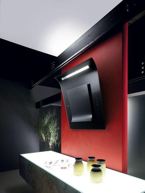 elica hotte de cuisine d corative sinfonia verre noir 80 cm prf0010417b. Black Bedroom Furniture Sets. Home Design Ideas
