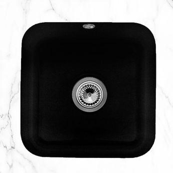Evier sous plan céramique noir mat Villeroy & Boch CISTERNA 1 bac 445x445
