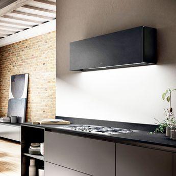 Hotte cuisine Elica murale RULES Dekton noir sirius 1200 (mm)