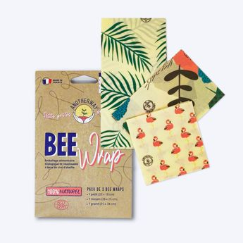 Bee wrap - Pack de 3 Emballages Alimentaires Tropical