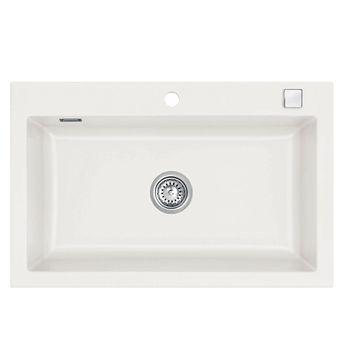 Évier céramique blanc Systemceram MERA 1 bac 800x510 mm