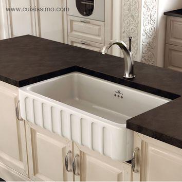 vier c ramique poser chambord victoria 1 bac blanc 795 x 480 x 220 mm cuisissimo. Black Bedroom Furniture Sets. Home Design Ideas