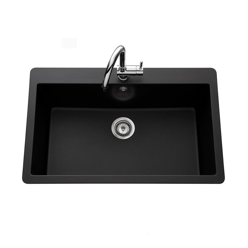 vier granit noir zina 1 grand bac 838x530 cuisissimo. Black Bedroom Furniture Sets. Home Design Ideas